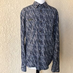 Dolce&Gabbana Long Sleeve Shirt Tonal Blue M